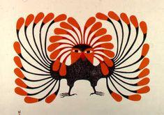 Birds by Kenojuak Ashevak. Kenojuak Ashevak was born in an igloo in an Inuit camp, Ikirasaq, at the southern coast of Baffin Island. Arte Inuit, Inuit Art, Arte Tribal, Tribal Art, Art Et Illustration, Illustrations, Native Art, Native American Art, Art Premier