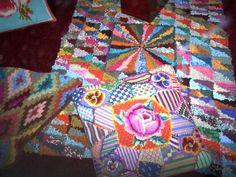 Kaffe Fassett rug, pillows & quilt
