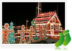 "Ring of Lights has become as celebrated as the boat parade itself. Beautifully decorated bayside homes go ""all out"" with their own holiday spirit and make a beautiful backdrop for the lighted boats in the parade."
