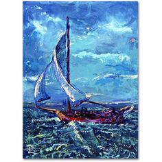 Trademark Fine Art Flying Fish Weather Canvas Art by Lowell S.V. Devin, Size: 18 x 24, Multicolor
