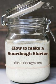 Make you own sourdough starter. How to make your own starter and see major growth in a little over a week. Use your starter to make bread, pancakes, English muffins, bagels and so much more. Sourdough Recipes, Sourdough Bread, Bread Recipes, English Muffins, Fermented Foods, Sauerkraut, Bagels, Kefir, Kimchi