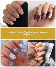 Ongles moyens et courts uniques pour femmes élégantes, short nail Ongles moyens et courts uniques pour femmes élégantes Short, Nails, Beauty, Elegant Woman, Ongles, Women's, Food And Drinks, Finger Nails, Nail