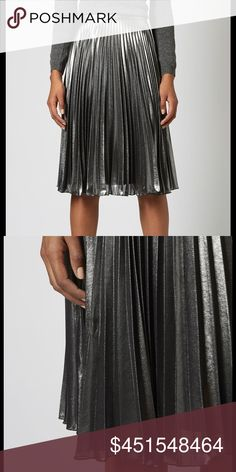 ISO Topshop Metallic Pleated Midi Skirt Size 0 (Do not buy)  looking for this skirt (not other brand or similar Topshop fit), size 0 only Topshop Skirts Midi