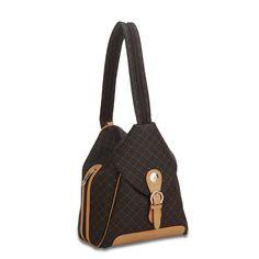 Rioni Signature Brown Shoulder Drawstring Bag by Rioni Designer ...