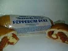 Pepperoni roll - Wikipedia, the free encyclopedia. I was researching pepperoni roll recipes for my husbands lunch ( he works with the coal mines) i did not know that the pep roll originated from coal miners! Husband Lunch, Homemade Pizza Rolls, Pepperoni Rolls, Yeast Bread, West Virginia, Mozzarella, Cheese, Snacks, Kitchens