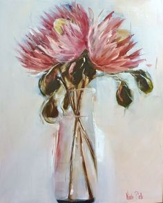 Flower Vases, Flower Art, Art Flowers, Protea Art, South African Artists, King Art, Sell Your Art, Trees To Plant, Contemporary Artists
