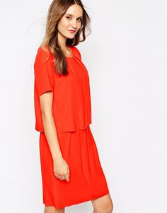 Image 1 ofY.A.S Trine Double Layer Shift Dress