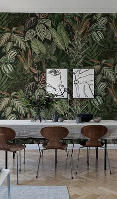 mischievous monkeys lush pinterest dschungel tapete bl tter tapeten und flur tapete. Black Bedroom Furniture Sets. Home Design Ideas