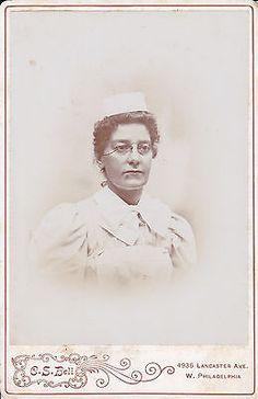 Cabinet Photo of A Nurse in Uniform Philadelphia 1880 1890 'S   eBay