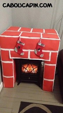 D coration d 39 une assiette en carton avec un bonhomme de noel bricolage noel assiette carton - Acheter une cheminee en carton ...