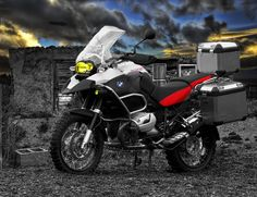 This is a photoshoped image of a BMW GS 1200 Adventure I created for a class / course assignment called DIGITAL TOOLS where we got to learn about all sorts of tools using CS3 . Many of these tools ...
