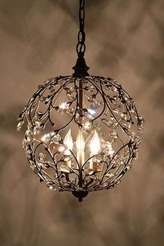 Lambent Sphere Chandelier. Only $50! It would be gorgeous in a walk in closet.