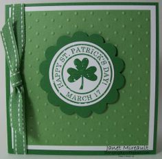 stampin up st patricks day | simple square st patrick s day card