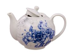 Blue England Rose Discount Teapot