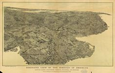 Antique Brooklyn Map 1897 Unique Wall Art — Giclee print and framed in USA by MUSEUM OUTLETS