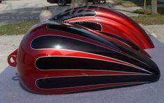 scallop paint - Google Search Custom Paint Motorcycle, Motorcycle Tank, Custom Tanks, Custom Bikes, Paint Schemes, Color Schemes, Dyna Super Glide, Pinstripe Art, Custom Paint Jobs