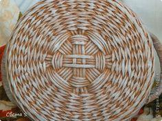 Мастер-класс Поделка изделие Плетение Корзины для овощей - Бумага газетная Трубочки бумажные фото 10