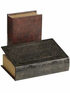 @Pier Mallory 1 Imports Embossed Book Boxes, $11.96-12.76; pier1.com