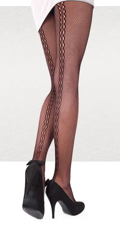 Items similar to Greed Lace Pantyhose Tights. Plait Along The Leg Pattern. on Etsy - pantyhose legs Stockings Lingerie, Fishnet Stockings, Fishnet Tights, Pantyhosed Legs, Bas Sexy, Pantyhose Heels, Lace Tights, Fashion Tights, Stocking Tights
