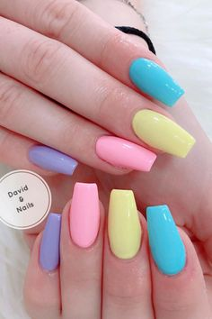 How to choose your fake nails? - My Nails Summer Acrylic Nails, Best Acrylic Nails, Acrylic Nail Designs, Milky Nails, Acylic Nails, Fire Nails, Gel Nails, Coffin Nails, Manicure