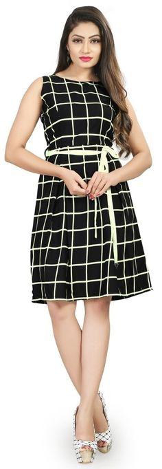 pari fashion Women's Silk One Piece Top Frock Dresses (Medium, Western Dresses Online, Western Dresses For Women, One Piece Frock, Pretty Dresses, Dresses For Work, Frock Dress, Pretty Black, Frocks, Women Lingerie