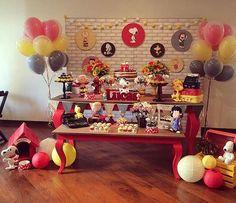 Festa Snoopy muito linda, adorei! Tudo muito fofo por @poesiaemfesta  #kikidsparty