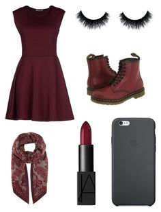 """Untitled #41"" by yougogogirl on Polyvore featuring Hope Collection, NARS Cosmetics, Loro Piana, Dr. Martens and Apple"
