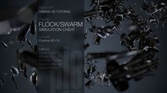 This tutorial covers creating an easy flock/swarm simulation using Tracer Object, Vibrate Tag, MoGraph Cloner, Random Effector and Delay Effector in Cinema Cinema 4d Tutorial, Animation Tutorial, 3d Tutorial, Vray For C4d, Digital Cinema, After Effect Tutorial, Flock Of Birds, Maxon Cinema 4d, After Effects Projects