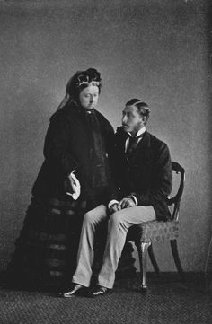 Queen Victoria and Prince Arthur on his 21st birthday, 1871 [in Portraits of Royal Children Vol.15 1870-71]   Royal Collection Trust