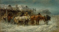Adolf Christian Schreyer >>> Caucasian winter scenery