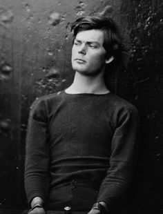 Lewis Payne in custody at the Washington Navy Yard-1865  WOW Lewis Thornton Powell (1844 - 1865) aka Lewis Payne, one of four people sentenced to hang for conspiracy to assassinate Lincoln