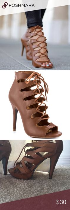 Chinese Laundry strap up heels Super cute like new Chinese Laundry strap up heels. Chinese Laundry Shoes Heels
