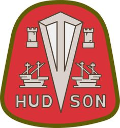 The Hudson company manufactured automobiles from 1909 to 1954 when it was bought by the American Motors Corporation. The Hudson badge remained until 1957 when it was dropped.