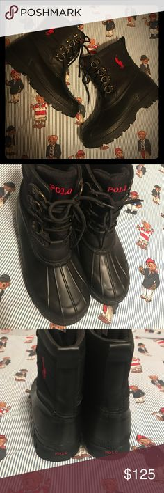 Polo Ralph Lauren boots Black boots Polo by Ralph Lauren Shoes Boots