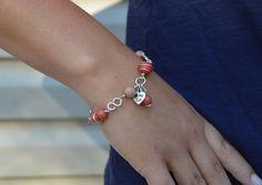 Items similar to Gemstone Silver Cat Bracelet, Silver Plated Cat Charm Bracelet, Paw Charm Bracelet, Pink Jewelry on Etsy Pink Jewelry, Cat Jewelry, Silver Cat, Silver Bracelets, Gemstones, Cats, Silver Cuff Bracelets, Gatos, Cat