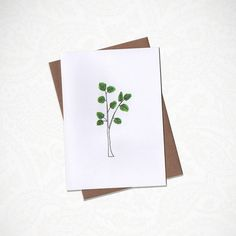 Little Tree Greeting Card by KatieNovakArt on Etsy