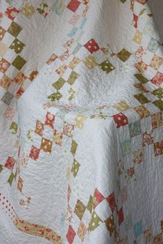 Double Irish Chain Shabby Chic Twin Size by CottonBerryQuilts