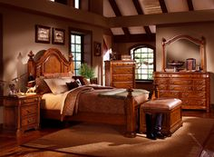 Love the bedroom set and color of the walls