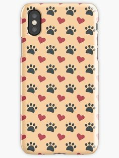 Cog and cat paw with hearts Phone case pattern cool beautiful nice print color