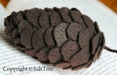 SaltTree: Felt Pinecone Tutorial - #Christmas # ornaments #felt
