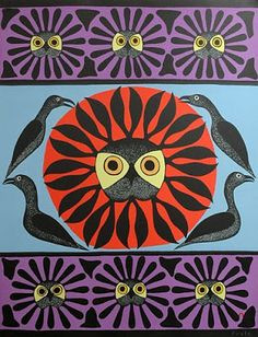 Owl's Treasure by Kenojuak Ashevak, Inuit artist Arte Inuit, Inuit Art, Native American Artists, Wow Art, Arte Popular, Indigenous Art, Art Graphique, Aboriginal Art, Native Art