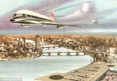 Hawker-Siddeley Intercity Vertical Lift Aircraft concept in BEA livery, mid-1960s.
