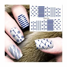 0.10$  Watch now - http://alit52.shopchina.info/go.php?t=32781557592 - ZKO 1 Sheet Water Transfer Nail Art Stickers Naval Style Designs Decals For Nails Tips Decoration DIY Nail Art Accessories 150 0.10$ #buyininternet