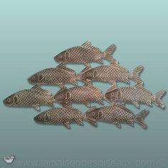 Etoile de mer banc de poissons Métal Mur Déco Ornement Suspension Mur Décoration 80 cm