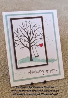 Handmade Cards; Sheltering Tree; 2015 Occasions; 2015 SAB; Stampin' Up; Tamara's Paper Trail