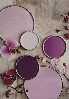 Shades of purple.