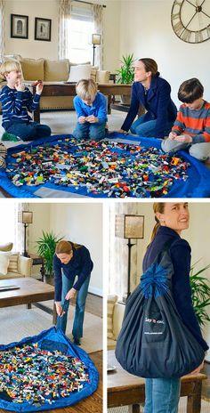 Una idea genial para jugar y recoger los legos.