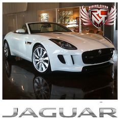 The new graceful White Jaguar F type