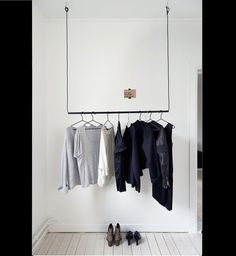 Hang clothing hanging clothes racks, hanging racks, diy clothes r Hanging Clothes Racks, Storing Clothes, Hanging Racks, Clothes Hanger, Diy Clothes Rail, Ikea Clothes Rack, Diy Clothes Rack Pipe, Walmart Clothes, Target Clothes