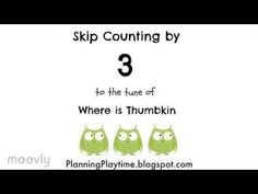 Easy way to memorize your multiplication tables. Skip counting to the familiar tune of Where is Thumbkin. You can purchase the videos and sheet music ad free. Math For Kids, Fun Math, Multiplication Songs, Math Songs, Where Is Thumbkin, Skip Counting Songs, Homeschool Math, Homeschooling, Science Curriculum